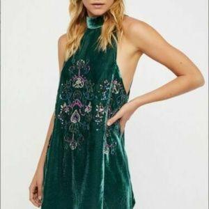 Free People Jills Sequin Embellished Green Dress